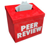 Peer Review Evaluation Comments Feedback-Inzamelingsdoos stock illustratie