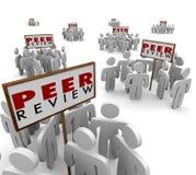 Peer Review Groups People Evaluate confirma el hallazgo del trabajo de la reacción Fotografía de archivo libre de regalías