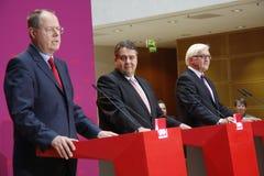 Peer Steinbruck, Sigmar Gabriel, Frank-Walter Steinmeier Stock Image
