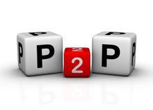 Peer to Peer. 3d symbol Stock Images