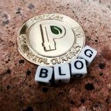 Peercoin-Blogkonzept Lizenzfreie Stockbilder