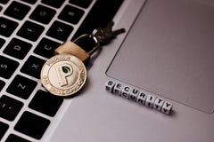 Peercoin-Sicherheitskonzept stockbilder