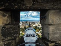 Edinburgh Castle Cannon stock images