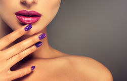 Pefect, bright lips. royalty free stock photos