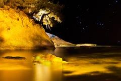 Pefkari coast at night Stock Images