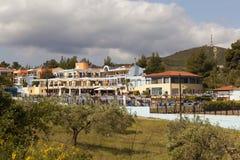 PEFKOHORI, GRECIA - 1° MAGGIO 2016: Foto di Alia Palace Hotel Immagine Stock Libera da Diritti
