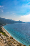 Pefkoulia beach in lefkada, Greece Royalty Free Stock Photos