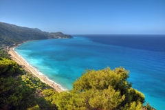 Pefkulia beach. (Lefkada island) surprised after a storm in the sea stock photos