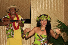 Peformers in Tahiti Royalty Free Stock Photography