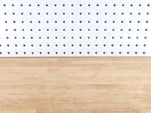 Peg Board. A close up shot of a workshop peg board royalty free stock images