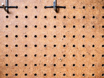 Peg board Stock Image