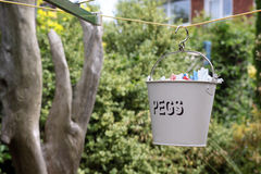 Peg Bucket fotos de archivo libres de regalías