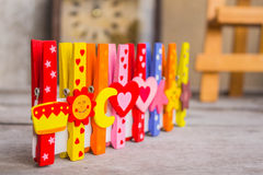 Peg and colorful Royalty Free Stock Photos