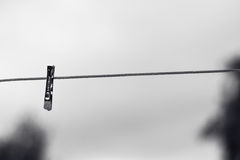 Peg on the line Royalty Free Stock Photo