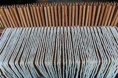 Peg Loom Weaving fotografia de stock