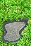 Pegada de mármore imagem de stock