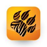 Pegada do tigre Imagens de Stock