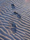 Pegada na areia Fotografia de Stock