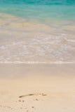 Pegada na areia Imagens de Stock Royalty Free