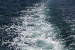 Pegada no mar Foto de Stock Royalty Free