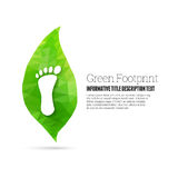 Pegada verde Imagens de Stock Royalty Free