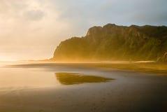 Pegadas da praia Fotografia de Stock
