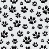 Pegadas do cão - teste padrão sem emenda ilustração royalty free