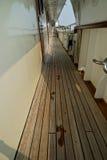 Pegadas em um barco Foto de Stock