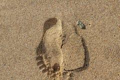 Pegadas na areia Fotografia de Stock Royalty Free
