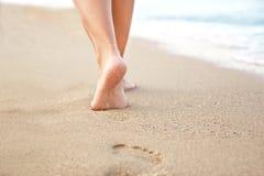 Pegadas na areia Imagem de Stock Royalty Free