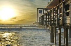 Pegadas na areia do th Fotos de Stock