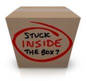 Pegado dentro de las ideas Unoriginal añejas de la caja la misma burocracia Fotos de archivo libres de regalías