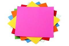 Pegajoso-Notas coloridas Fotografía de archivo
