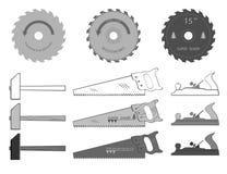 Pegare a melhor ferramenta e faça uma obra-prima da madeira Imagens de Stock
