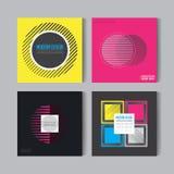 Pegas abstractas fijadas Art Graphic Backgrounds en estilo plano suizo retro Figura aislada, forma, icono, logotipo para las cubi Imagenes de archivo