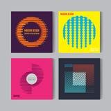 Pegas abstractas fijadas Fondos del vector de Art Graphic en estilo plano suizo retro Figura aislada, forma, icono, logotipo para Fotos de archivo libres de regalías