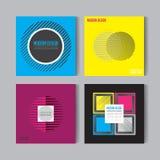 Pegas coloridas del extracto plano del estilo fijadas Art Graphic Backgrounds Retro Fotos de archivo