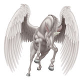 Pegaso Unicorn Winged Horned Horse Immagini Stock