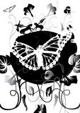 pegasos бабочки белые Стоковое Изображение