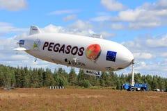 Pegasos Zeppelin NT in Jamijarvi Airport, Finland Stock Image