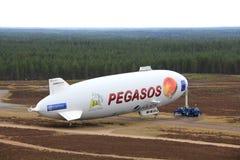 Pegasoszeppelin NT in Jamijarvi, Finland Royalty-vrije Stock Foto's