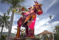 Pegasso, Santa Maria el Tule, Oaxaca, Messico Fotografia Stock Libera da Diritti