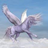 Pegasus μεταξύ των σύννεφων Στοκ Εικόνες