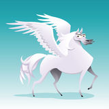 Pegasus. Funny cartoon and  isolated character Royalty Free Stock Photo