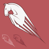 Pegasus. Vector illustration of pegasus in red background Stock Illustration