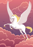 Pegasus. The winged horse Pegasus soaring in the sky. No transparency used. Basic (linear) gradients Royalty Free Stock Photos