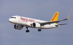 Pegasus Airbus A320neo Fotografia de Stock Royalty Free