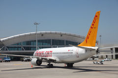 Pegasus airline airplane Royalty Free Stock Image