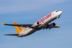 Pegasus Airlines Boeing 737 samolot Fotografia Stock