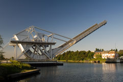 Pegasus Bridge. One of the objectives for the D-Day landings Normandy Royalty Free Stock Image